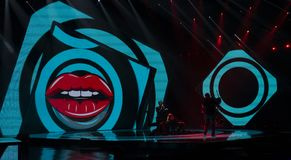 First semifinal of Ukraine`s selection for Eurovision 2019. Maruv stock photography