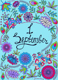First September background colorful. Vector First September background colorful Royalty Free Stock Images