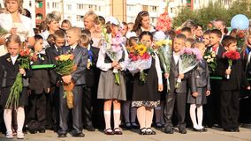 First September. Beginning of school year stock video