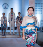 The first series of Shang Gu-Fashion Show. On the afternoon of March 20, the third session of the Red Square World Chinese clothing design competition finals at Stock Photography