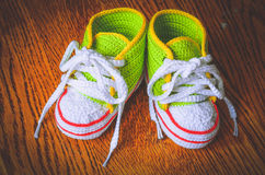 The first shoes royalty free stock photos