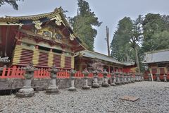 The tomb of Tokugawa Ieyasu in Tosho-gu shrine. The first shogun Tokugawa Ieyasu are entombed here Stock Image