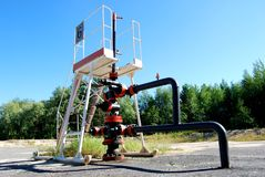 The first Siberian oil well Stock Photography