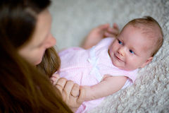 First smile Stock Photography