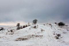 First snow. Over the hills Stock Photos