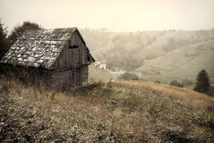 First snow. Late autumn, first snow on a romanian hills Royalty Free Stock Photography