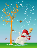 The First Snow. Illustrations vector of The First Snow Royalty Free Stock Photography