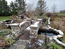 First Snow: Bridge Royalty Free Stock Photos