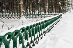 First snow. First fallen snow in the park Royalty Free Stock Photography