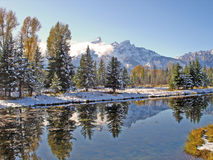 First snow in Grand Teton Royalty Free Stock Photos