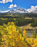 First snow in mountains Stock Photos