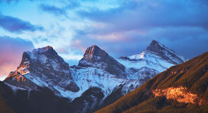 The first snow in mountains Stock Photography