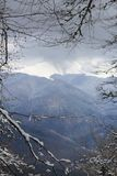 First snow in the mountains Royalty Free Stock Image