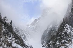 First snow in the mountains Royalty Free Stock Photography