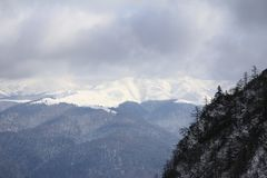 First snow in the mountains Stock Photography