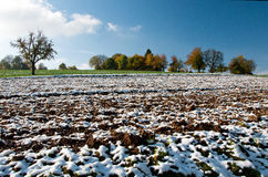 First snow panorama Stock Image
