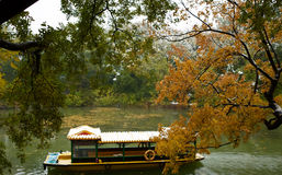 The first snow in summer palace Royalty Free Stock Photo