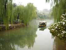 The first snow in summer palace Stock Images