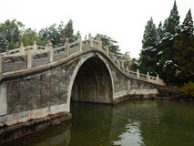 The first snow in summer palace Royalty Free Stock Photos