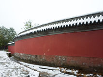 The first snow in summer palace. Winter is coming Stock Photography
