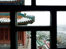 The first snow in summer palace Royalty Free Stock Images