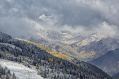 First Snow on thew Resort Stock Images