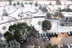 First snow in zhejiang china Royalty Free Stock Photo