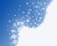 First snowfall. A christmas winter snowflake background Stock Photography