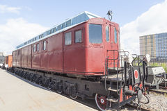 The first Soviet locomotive. St. Petersburg. Royalty Free Stock Photography