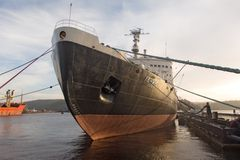 The first Soviet nuclear-powered icebreaker Stock Images