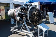 The first Soviet turbojet Klimov VK-1 RD-45. Royalty Free Stock Photography