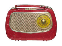 The first in the Soviet Union a massive portable tube radio,1952 Royalty Free Stock Photos