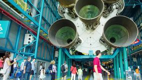 The first stage engines of the Saturn 5 rocket