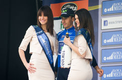 First stage of Tirreno Adriatica race Stock Photo