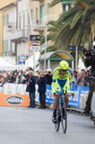First stage of Tirreno Adriatica race Stock Photos