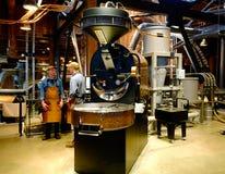 Starbucks Coffee Roastery Workers Roasting Beans royalty free stock photos