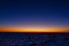 First stars in the background of a bright sunset. Royalty Free Stock Photography