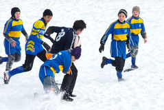 The first starts. 2 19 2012 Moscow, Marino. Tournament of the Moscow school League of Rugby football The first starts Stock Photo
