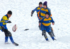 The first starts. 2 19 2012 Moscow, Marino. Tournament of the Moscow school League of Rugby football The first starts Stock Photography