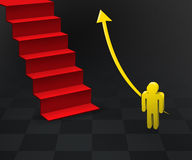 First step of career. The way goes to success – Concept vector illustration
