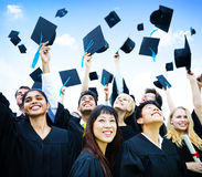 The first step successful Ceremony Graduate Concept Stock Image