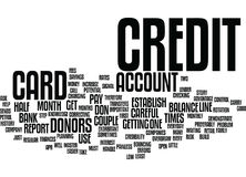 First Step To Build Credit Word Cloud Concept Stock Image