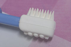 First step of toothbrush Royalty Free Stock Image