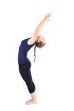 First step of Yoga surya namaskar sun salutation Royalty Free Stock Image
