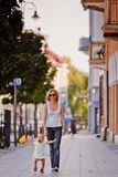 First steps. In the city, Vilnius, Lithuania Royalty Free Stock Image
