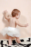 First steps of baby girl Stock Images