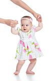 First steps of baby girl Stock Photography