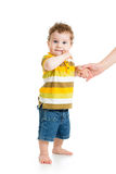 First steps of baby Royalty Free Stock Photo