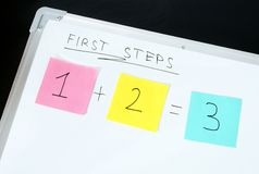 First steps concept Stock Image