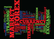 First Steps In Forex Text Background Word Cloud Concept Royalty Free Stock Photography